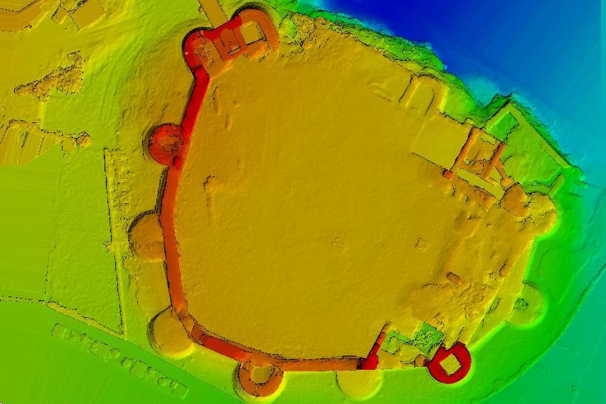 modele numerique de terrain realisé avec un drone et des photos aeriennes