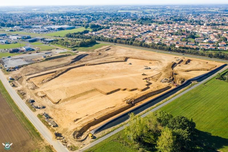 photo drone suivi de chantier beaupreau
